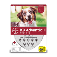 K9 Advantix II Large Dogs 11Kg - 25Kg / 4 Pack Dog Flea & Tick - PetMax