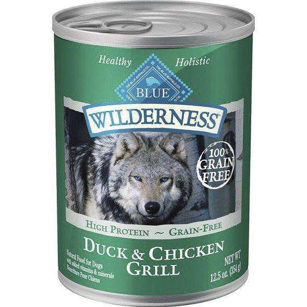 Blue Buffalo Wilderness Canned Dog Food Duck & Chicken  Canned Dog Food - PetMax
