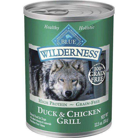 Blue Buffalo Wilderness Canned Dog Food Duck & Chicken, Canned Dog Food, Blue Buffalo Company - PetMax Canada