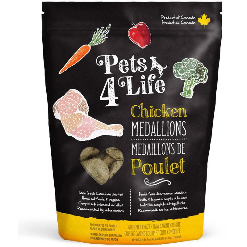 Pets 4 Life Raw Dog Food Chicken Medallions  Raw Dog Food - PetMax