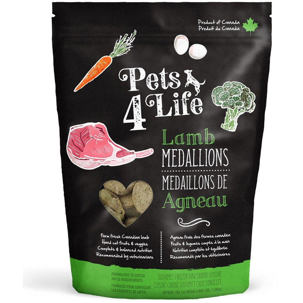 Pets 4 Life Raw Dog Food Lamb Medallions  Raw Dog Food - PetMax