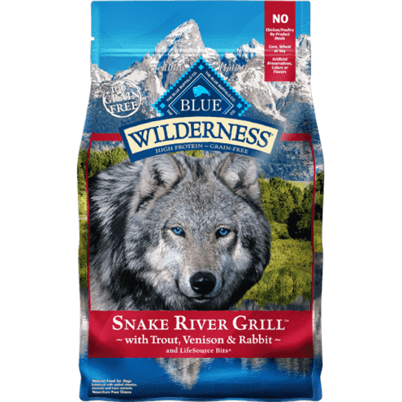 Blue Buffalo Wilderness Dog Food Snake River  Dog Food - PetMax