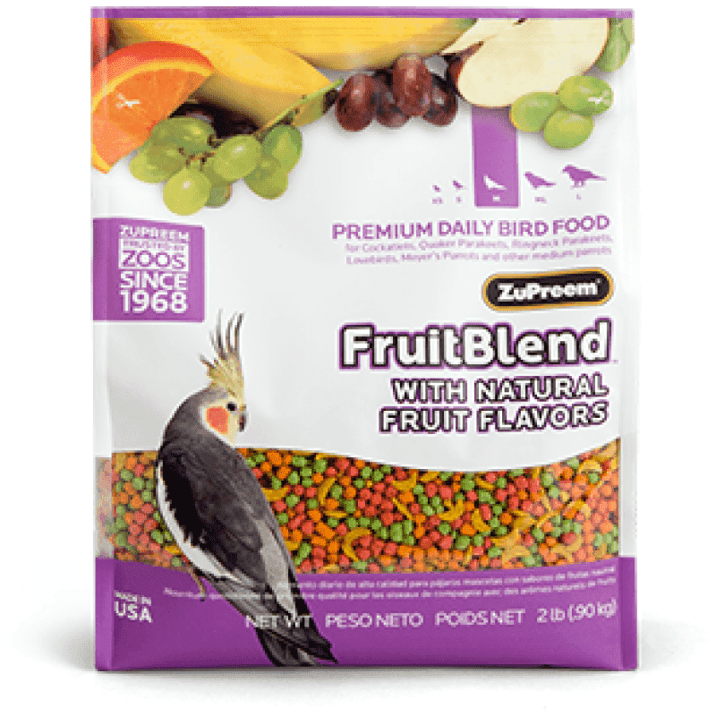 Zupreem Fruit Blend Cockatiel  Bird Food - PetMax