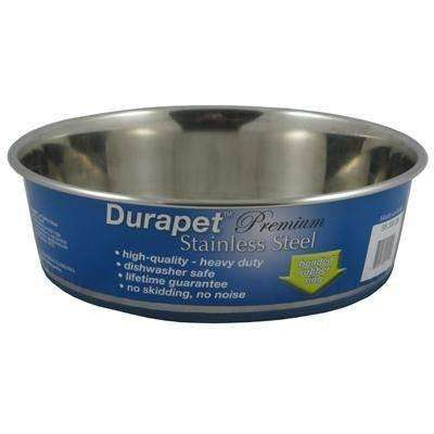 Durapet Premium Stainless Steel Bowl, Dog Dishes, OurPets - PetMax Canada