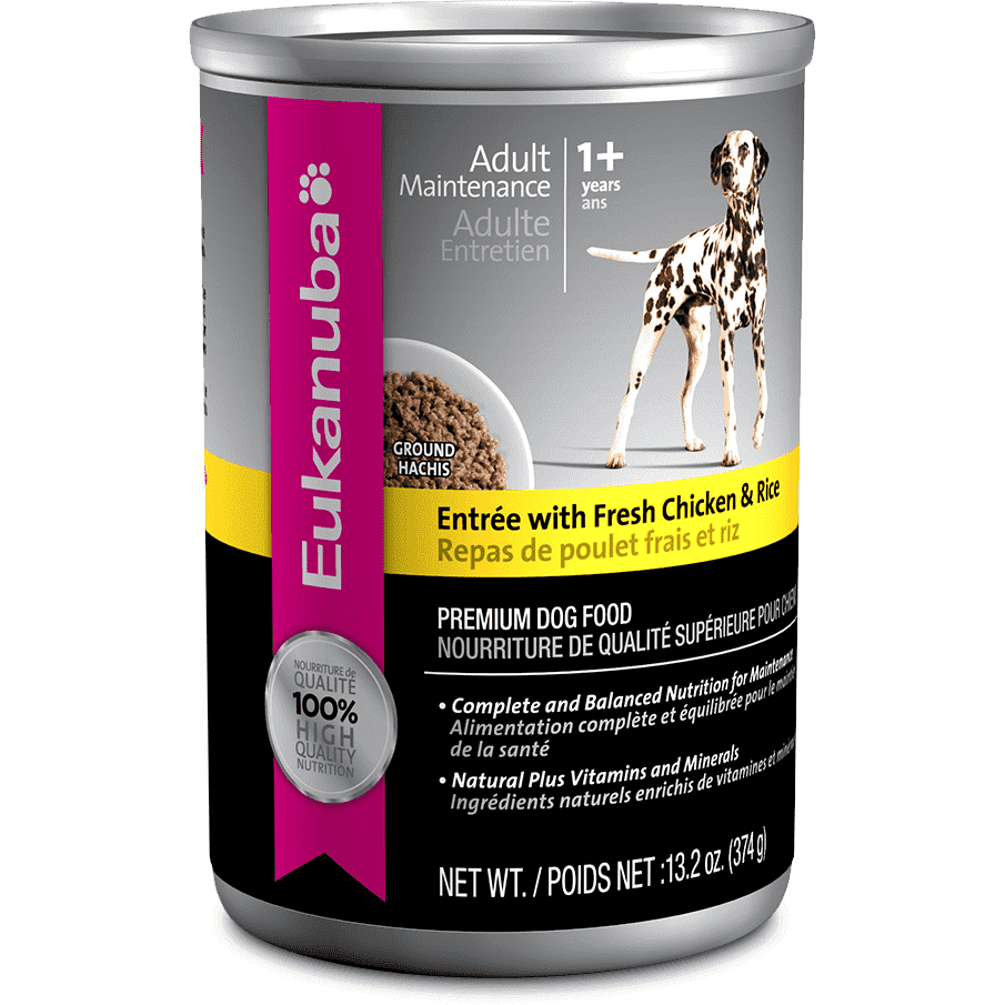 Eukanuba Canned Dog Food Adult Chicken & Rice, Canned Dog Food, Proctor and Gamble Inc. - PetMax Canada