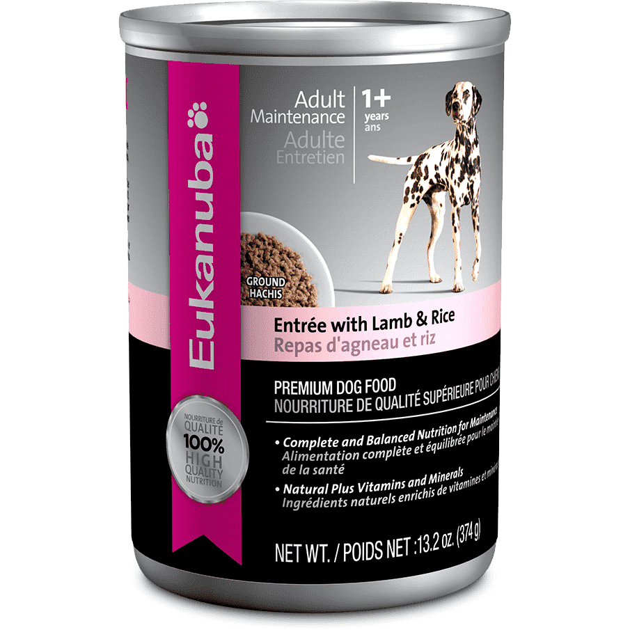 Eukanuba Canned Dog Food Lamb & Rice Entree, Canned Dog Food, Proctor and Gamble Inc. - PetMax Canada