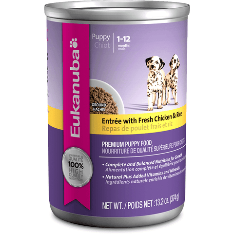 Eukanuba Canned Puppy Food Chicken & Rice, Canned Dog Food, Proctor and Gamble Inc. - PetMax Canada
