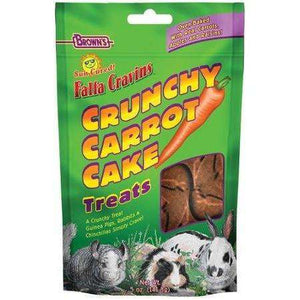 Brown's Falfa Cravins Crunchy Carrot Cake  Small Animal Food Treats - PetMax