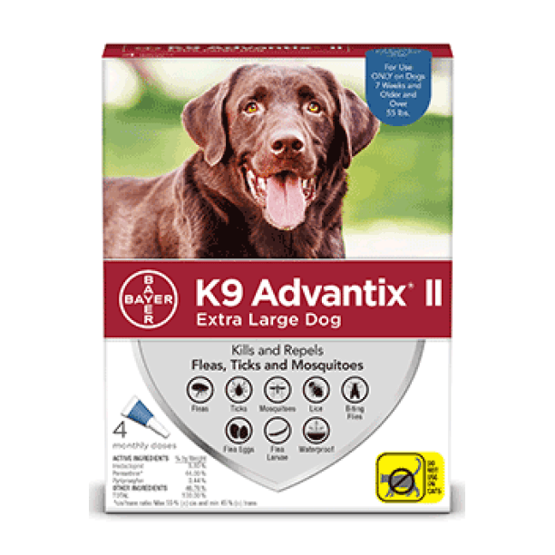 K9 Advantix II X-Large Dogs 25Kg+ / 4 Pack Dog Flea & Tick - PetMax