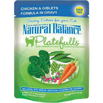 Natural Balance Platefulls Chicken & Giblets  Canned Cat Food - PetMax