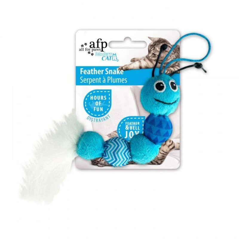 All For Paws Cat Toy Feather Snake  Cat Toys - PetMax