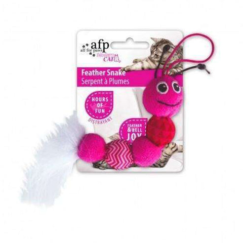 All For Paws Cat Toy Feather Snake