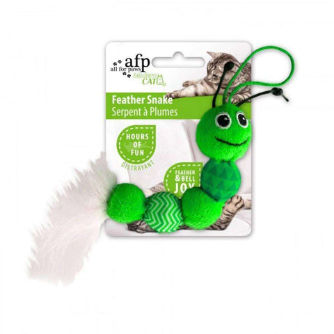 All For Paws Cat Toy Feather Snake, Cat Toys, All for Paws - PetMax Canada