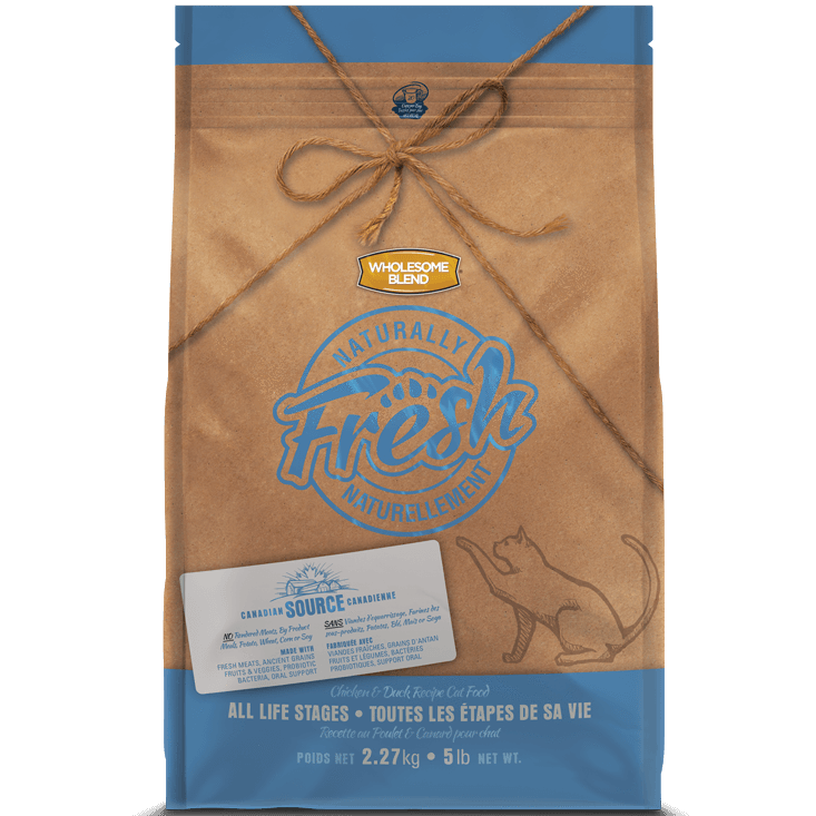 Wholesome Blend Fresh Cat Food Chicken & Duck  Dry Cat Food - PetMax