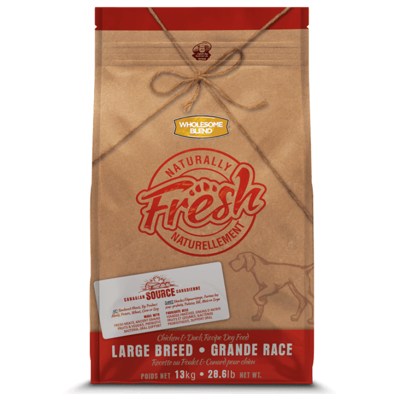 Wholesome Blend Fresh Dog Food Large Breed Chicken & Duck | Dog Food -  pet-max.myshopify.com