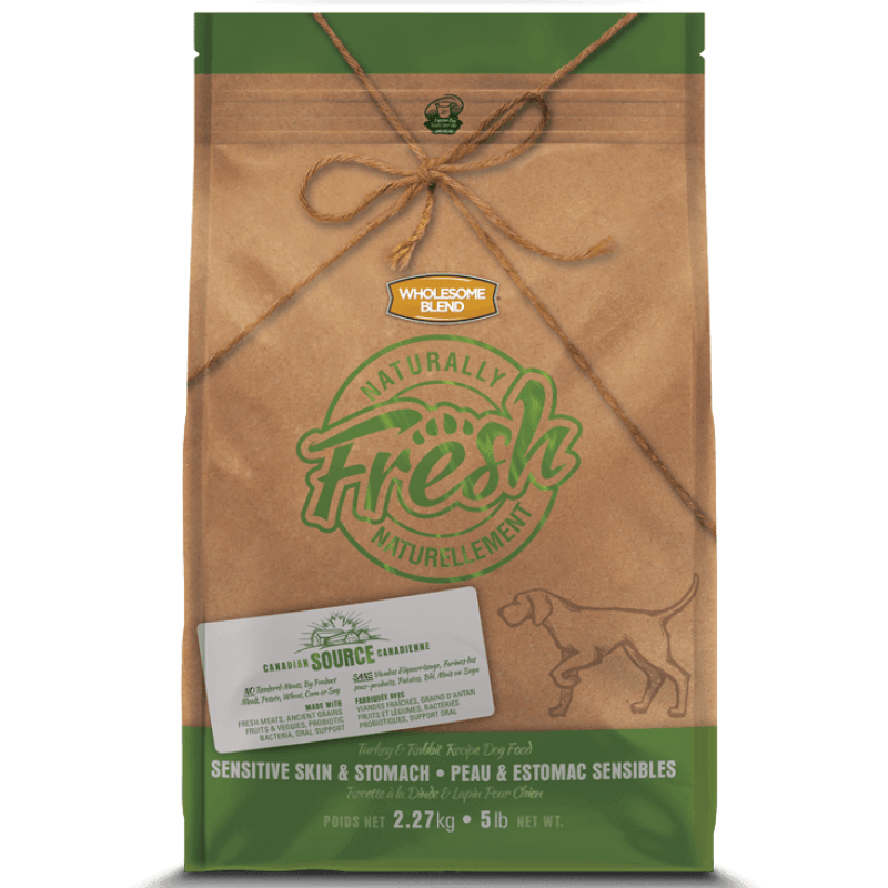 Wholesome Blend Fresh Dog Food Sensitive Skin & Stomach Turkey & Rabbit | Dog Food -  pet-max.myshopify.com