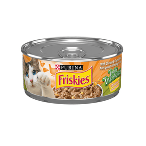 Friskies Canned Tasty Treasures Chicken & Cheese  Canned Cat Food - PetMax