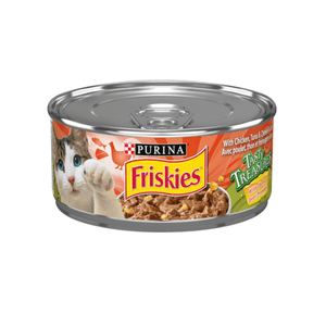 Friskies Canned Tasty Treasures Chicken, Tuna, & Cheese | Canned Cat Food -  pet-max.myshopify.com