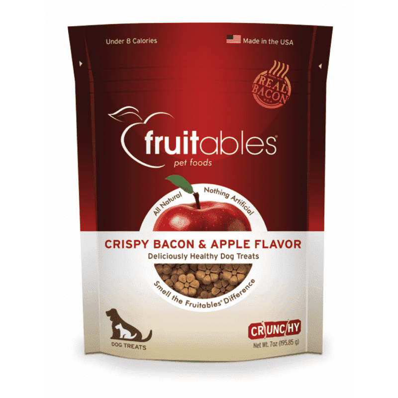 Fruitables Dog Treats Crispy Bacon & Apple | Dog Treats -  pet-max.myshopify.com