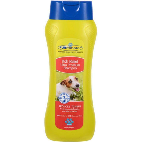 Furminator Itch Relief Shampoo For Dogs, Grooming, Furminator Inc. - PetMax