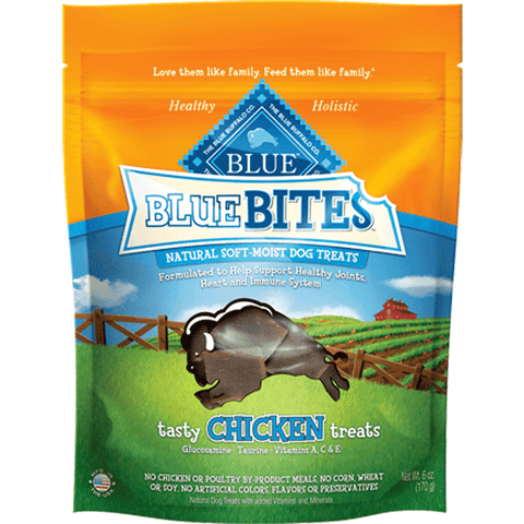 Blue Bites Dog Treats Soft Moist Chicken, Dog Treats, Blue Buffalo Company - PetMax