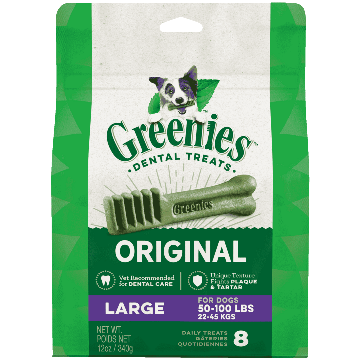 Greenies Dental Treat Original Large Dog Treats 340g 340g - PetMax.ca
