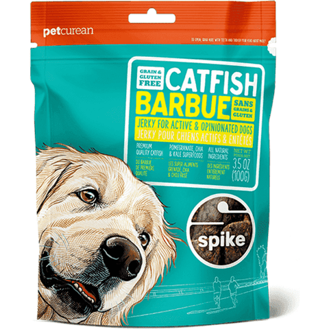 Spike Dog Treats - Catfish Jerky, Dog Treats, Petcurean - PetMax Canada