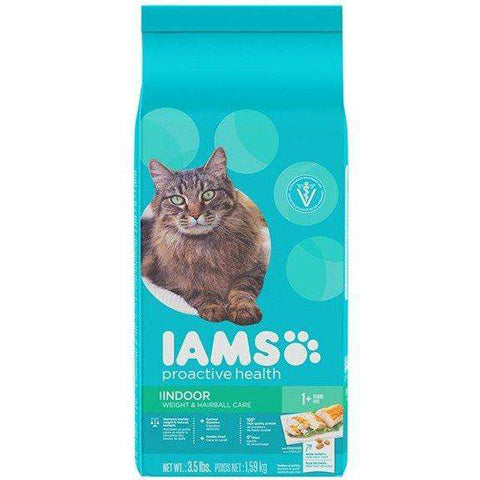 Iams Cat Food Indoor Weight Control Hairball Care