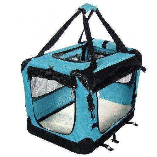 Tuff Crate Deluxe Soft Crate Cages and Kennels 32 X 23 X 22.5 / Blue 32 X 23 X 22.5 - PetMax.ca