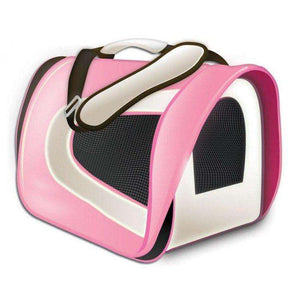 Tuff Carrier Airline Approved Soft-Sided Crate 17 X 10 X 9 / Pink Cages and Kennels - PetMax