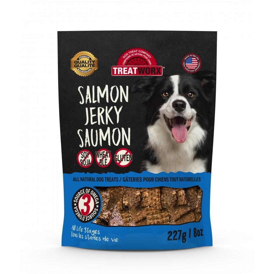 Treatworx Salmon Jerky Dog Treats [variant_title] [option1] - PetMax.ca