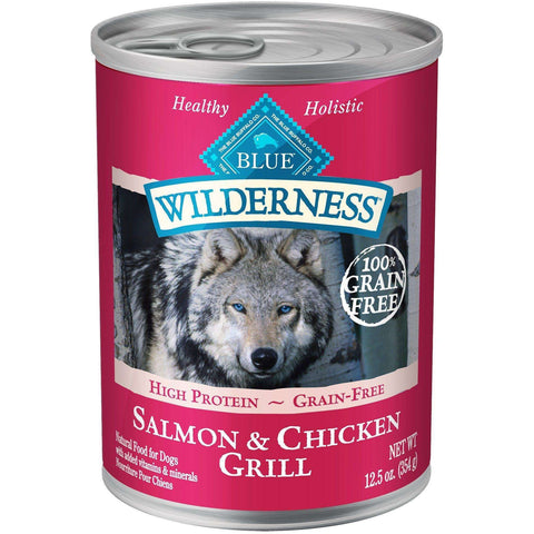 Blue Buffalo Wilderness Canned Dog Food Salmon & Chicken, Canned Dog Food, Blue Buffalo Company - PetMax