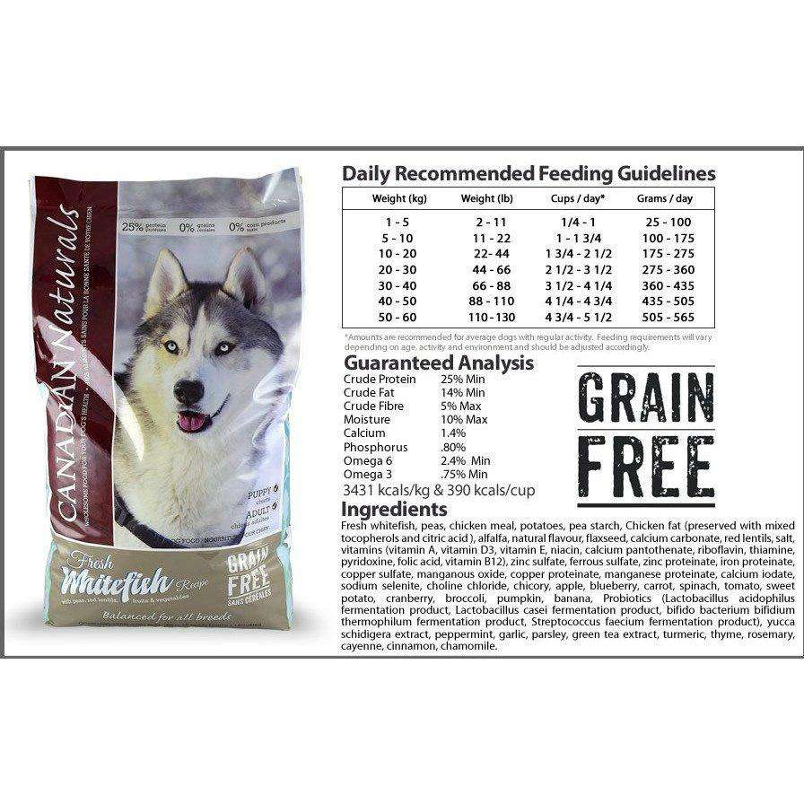 Canadian Naturals Grain Free Whitefish Dog Food [variant_title] [option1] - PetMax.ca