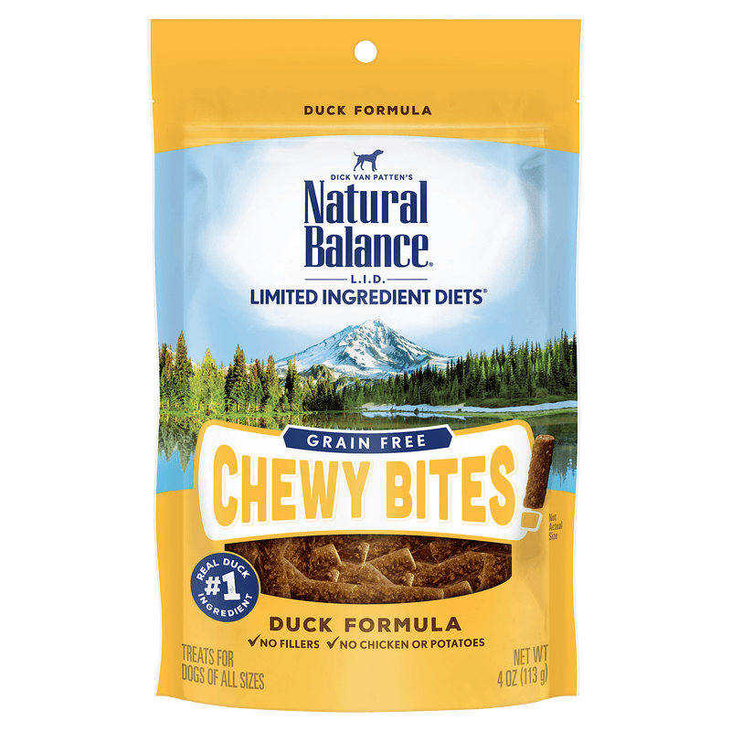 Natural Balance L.I.D. Chewy Bites Duck Dog Treats [variant_title] [option1] - PetMax.ca