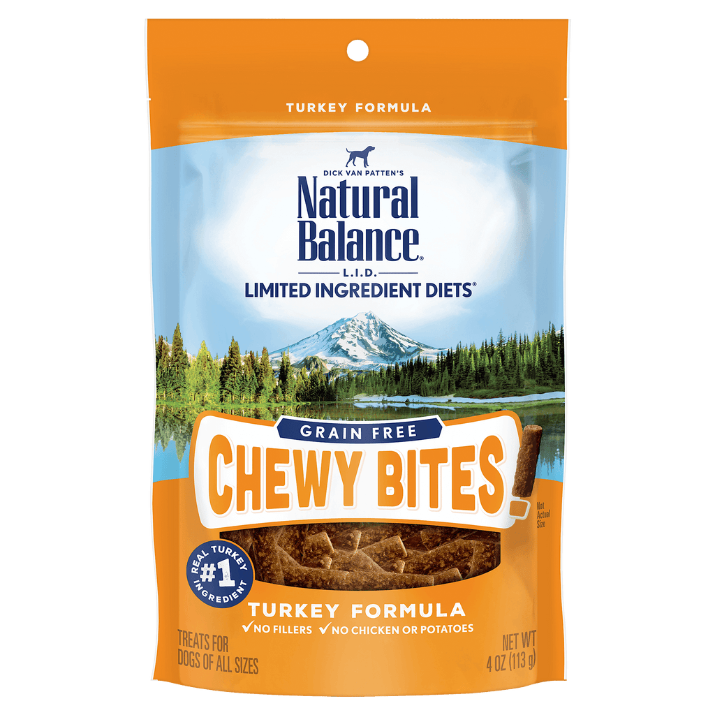 Natural Balance L.I.D. Chewy Bites Turkey  Dog Treats - PetMax