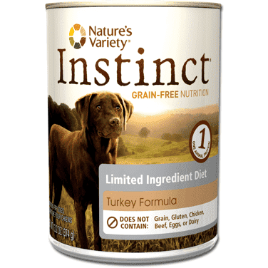 Nature's Variety Instinct Canned Dog L.I.D. Turkey, Canned Dog Food, Natures Variety - PetMax Canada