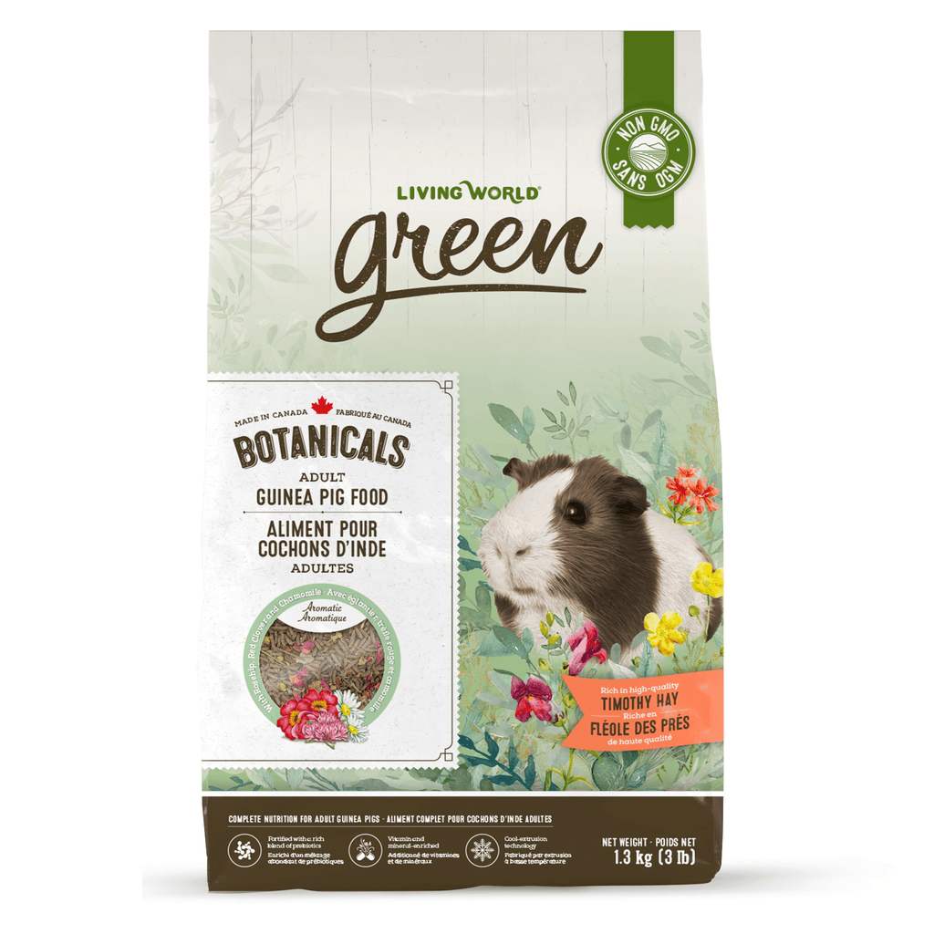 Living World Green Botanicals Adult Guinea Pig Food  Small Animal Food Dry - PetMax