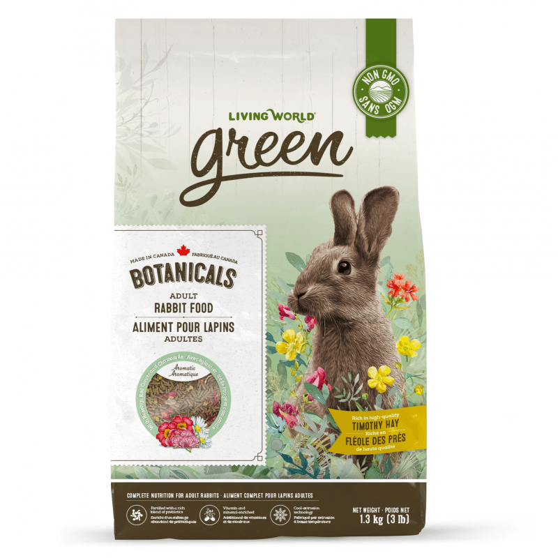 Living World Green Botanicals Adult Rabbit Food  Small Animal Food Dry - PetMax