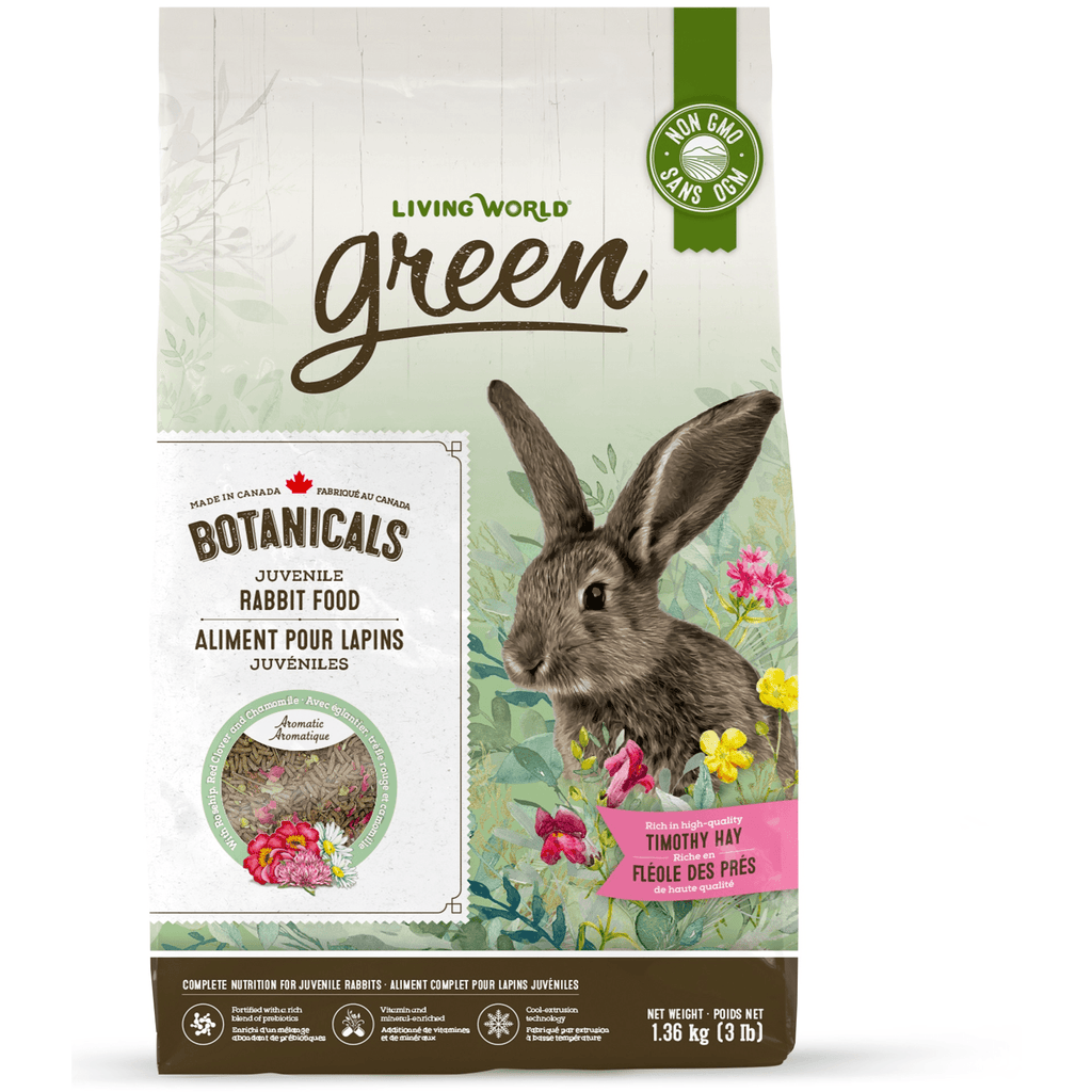 Living World Green Botanicals Juvenile Rabbit Food  Small Animal Food Dry - PetMax
