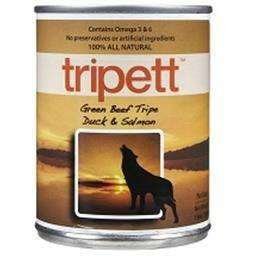 Trippett Green Beef Tripe - Duck & Salmon  Canned Dog Food - PetMax