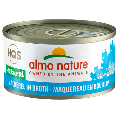 Almo Nature Natural Mackerel In Broth  Canned Cat Food - PetMax