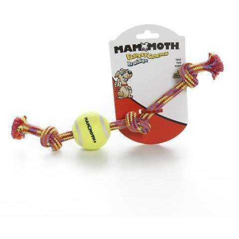 Mammoth Rope Bone With Ball, Dog Toys, Burgham Sales Ltd. - PetMax Canada