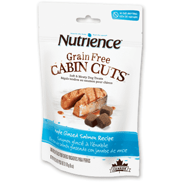 Nutrience Dog Grain Free Cabin Cuts Maple Glazed Salmon, Dog Treats, Nutrience Pet Food - PetMax Canada