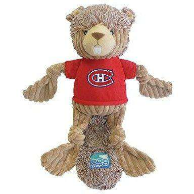 NHL Montreal Canadiens Plush Beaver Dog Toy, Dog Toys, Karsuh Activewear Inc. - PetMax Canada