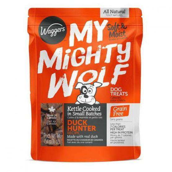 Waggers My Mighty Wolf Dog Treats Duck  Dog Treats - PetMax
