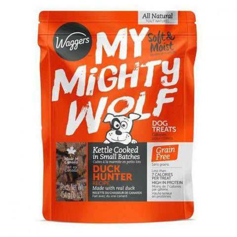 Waggers My Mighty Wolf Dog Treats Duck, Dog Treats, Waggers Pet Products - PetMax Canada