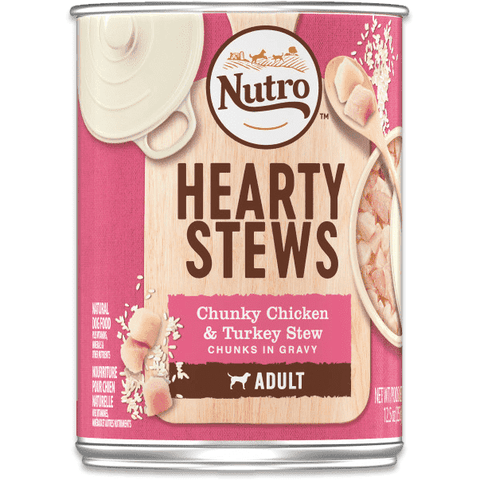 Nutro Canned Dog Food Hearty Stew Chicken & Turkey