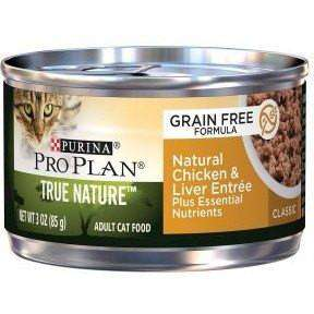 Pro Plan Canned Cat Food True Nature Grain Free Adult Chicken & Liver  Canned Cat Food - PetMax