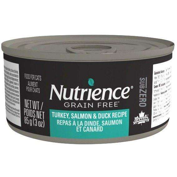 Nutrience Grain Free Canned Cat Food Sub Zero Turkey, Salmon & Duck  Cat Canned Food - PetMax