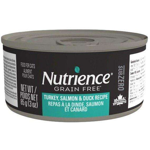Nutrience Grain Free Canned Cat Food Sub Zero Turkey, Salmon & Duck